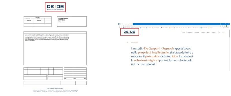 Esempio fattura e sito web